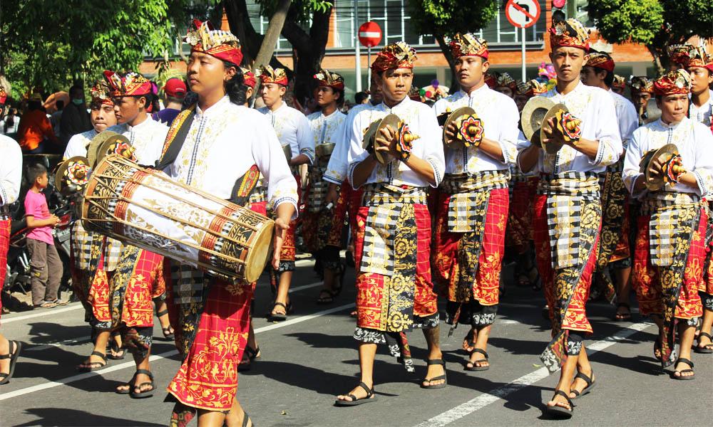 Illustration of Baleganjur music performance
