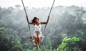 Swing sensation above a river.