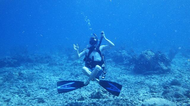 Illustration of diving