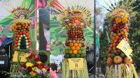 Gebogan or fruit arrangement
