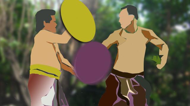Illustration of pandanus war